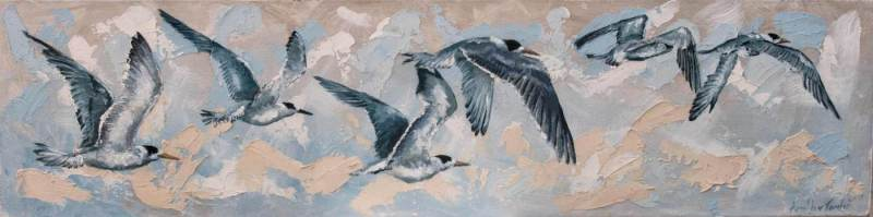 FLYING-TERNS-100X25CM-Acrylic-on-Canvas