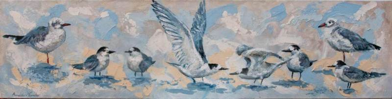 Kelp-Guls-and-Terns-100x25cm-Acrylic-on-Canvas